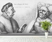 Rex et Regina de Tunis (chalk on paper) wallpaper mural in-room view
