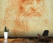 Self portrait, c.1512 (red chalk on paper) wall mural kitchen preview