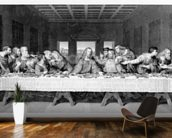 The Last Supper, engraved by Frederick Bacon, 1863 (engraving) mural wallpaper kitchen preview