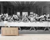 The Last Supper, engraved by Frederick Bacon, 1863 (engraving) mural wallpaper living room preview
