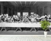The Last Supper, engraved by Frederick Bacon, 1863 (engraving) mural wallpaper in-room view
