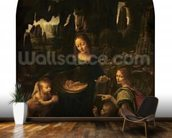 Madonna of the Rocks, c.1478 (oil on panel transferred to canvas) (also see 2038) wallpaper mural kitchen preview