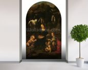Madonna of the Rocks, c.1478 (oil on panel transferred to canvas) (also see 2038) wallpaper mural in-room view