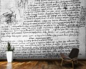 Fol.145v-b, page from Da Vincis notebook (pen & ink on paper) wallpaper mural kitchen preview