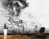 Silhouette of an Angel (pen and ink on paper) mural wallpaper kitchen preview