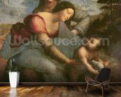 Virgin and Child with St. Anne, c.1510 (oil on panel) wallpaper mural kitchen preview