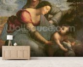Virgin and Child with St. Anne, c.1510 (oil on panel) wallpaper mural living room preview