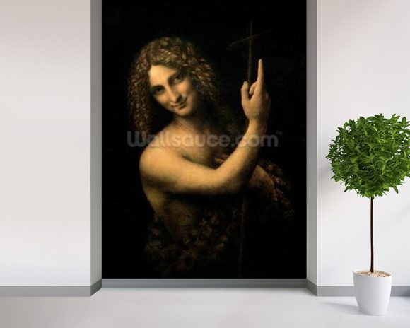 St. John the Baptist, 1513-16 (oil on canvas) wall mural room setting