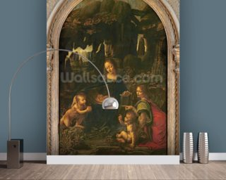 Madonna of the Rocks, c.1478 (oil on panel transferred to canvas) wallpaper mural