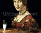 Portrait of a Lady from the Court of Milan, c.1490-95 (oil on panel) mural wallpaper kitchen preview
