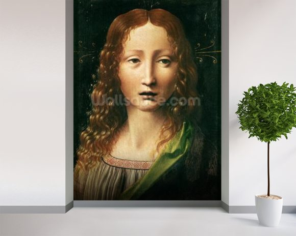 Head of the Saviour (oil on panel) wall mural room setting