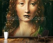 Head of the Saviour (oil on panel) wall mural kitchen preview