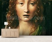 Head of the Saviour (oil on panel) wall mural living room preview