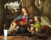 Madonna of the Rocks (oil on panel) wallpaper mural kitchen preview