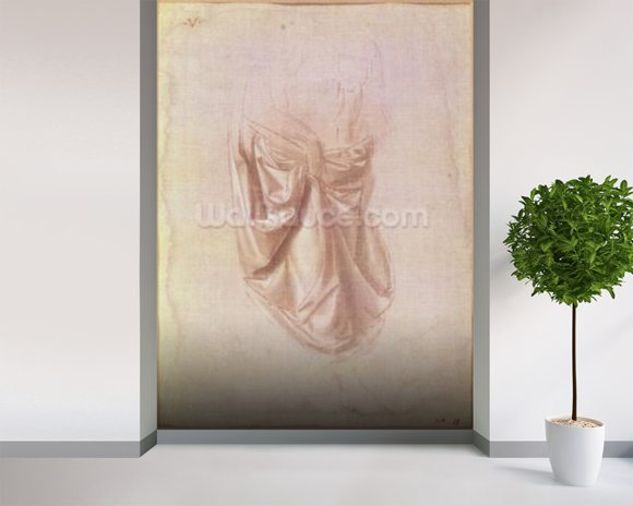 Drapery study (gouache on canvas) mural wallpaper room setting