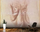Drapery study (gouache on canvas) mural wallpaper kitchen preview