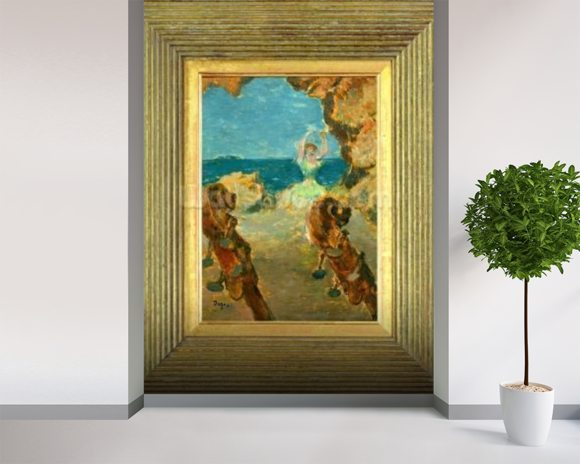 The Ballet Dancer, 1891 (oil on mahogany panel) (see 141384) mural wallpaper room setting