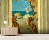 The Ballet Dancer, 1891 (oil on mahogany panel) (see 141384) mural wallpaper living room preview