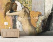 After the Bath, Woman Drying her Neck, 1898 (pastel on mounted paper) wallpaper mural living room preview