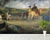 Scene of War in the Middle Ages, c.1865 (oil on canvas) mural wallpaper in-room view