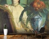 Woman with the Oriental Vase, 1872 (oil on canvas) wallpaper mural kitchen preview
