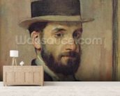Portrait of Leon Bonnat (1833-1922) c.1863 (oil on canvas) wall mural living room preview