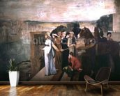 Semiramis Building Babylon, 1861 (oil on canvas) wallpaper mural kitchen preview