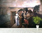 Semiramis Building Babylon, 1861 (oil on canvas) wallpaper mural in-room view