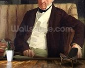 Portrait of Hilaire Degas (1770-1858), grandfather of the artist, 1857 (oil on canvas) wall mural kitchen preview