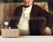 Portrait of Hilaire Degas (1770-1858), grandfather of the artist, 1857 (oil on canvas) wall mural living room preview