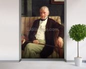 Portrait of Hilaire Degas (1770-1858), grandfather of the artist, 1857 (oil on canvas) wall mural in-room view
