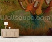 Dancers Wearing Green Skirts, c.1895 (oil on canvas) wall mural living room preview