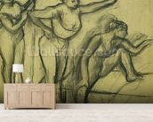 Three Dancers, c.1900 (charcoal on paper) wallpaper mural living room preview