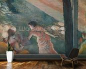 Cafe Concert at the Ambassadeurs, 1885 (pastel on paper) mural wallpaper kitchen preview