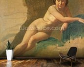 Nude Study, c.1858-60 (oil on canvas) mural wallpaper kitchen preview