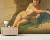 Nude Study, c.1858-60 (oil on canvas) mural wallpaper living room preview
