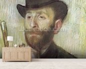 Zachary Zakarian, c.1885 (pastel on board) wallpaper mural living room preview