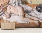 After the Bath or, Reclining Nude, c.1885 (pastel on paper) wall mural living room preview