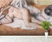 After the Bath or, Reclining Nude, c.1885 (pastel on paper) wall mural in-room view