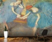 Two Dancers at Rest or, Dancers in Blue, c.1898 (pastel on paper) wall mural kitchen preview
