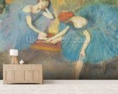 Two Dancers at Rest or, Dancers in Blue, c.1898 (pastel on paper) wall mural living room preview