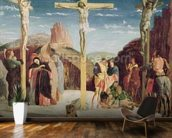 Calvary, after a painting by Andrea Mantegna (1431-1506) (oil on canvas) wallpaper mural kitchen preview
