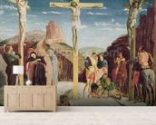 Calvary, after a painting by Andrea Mantegna (1431-1506) (oil on canvas) wallpaper mural living room preview