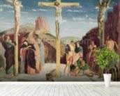 Calvary, after a painting by Andrea Mantegna (1431-1506) (oil on canvas) wallpaper mural in-room view