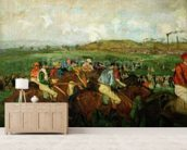 Gentlemen race. Before the Departure, 1862 (oil on canvas) wall mural living room preview