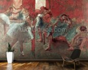 Dancers at Rehearsal, 1895-98 (pastel on paper) wallpaper mural kitchen preview