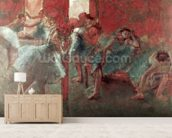 Dancers at Rehearsal, 1895-98 (pastel on paper) wallpaper mural living room preview