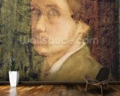 Self Portrait, c.1852 (pastel on paper) mural wallpaper kitchen preview