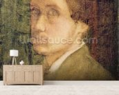 Self Portrait, c.1852 (pastel on paper) mural wallpaper living room preview