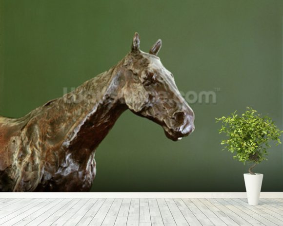 Horses Head (bronze) (detail of 335585) wall mural room setting